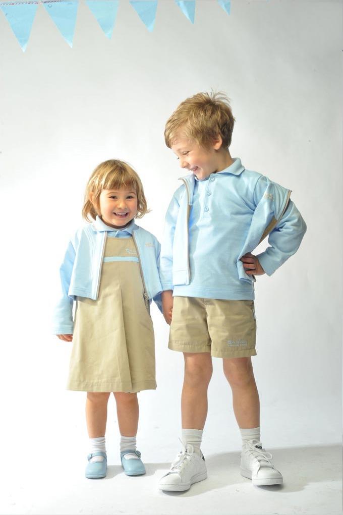 uniformes escolares azul